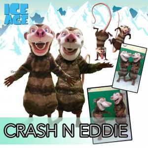 CrashandEddie Mascot