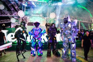 event robot mascot