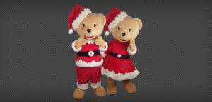 fullerton christmas bear mascot