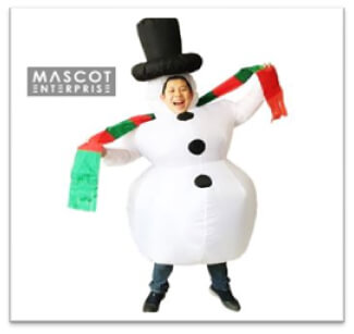 Inflatable costume Singapore Merry Chrisme
